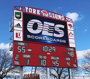 LED Video Display with Static Scoreboard